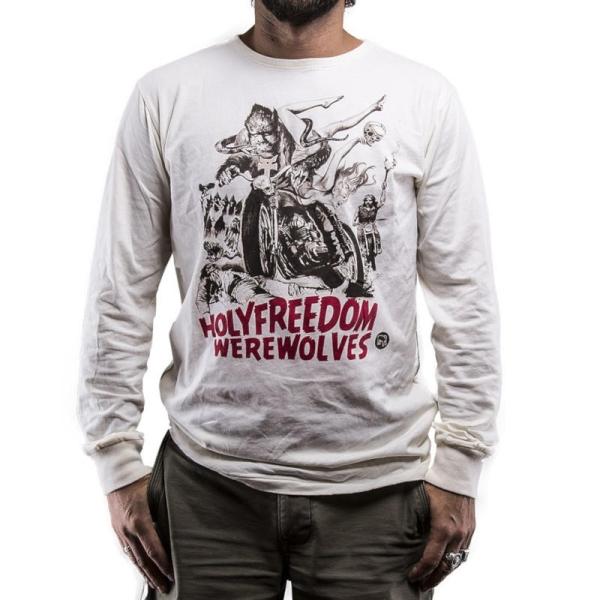 WEREWOLF WHITE LS - T-Shirt