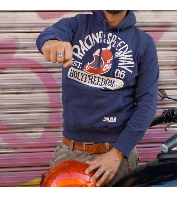 SPEEDWAY BLUE - hooded...