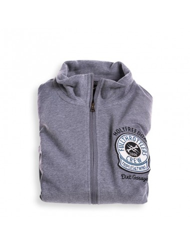DIRTH GARAGE GREY - fullzip sweatshirt