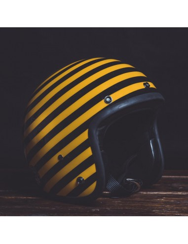 Helmet Jet STRISCIA YELLOW