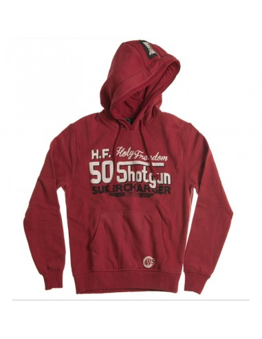 SHOTGUN RED - hooded sweatshirt