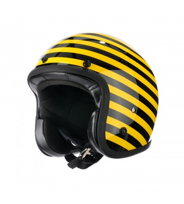 Casco Jet STRISCIA YELLOW