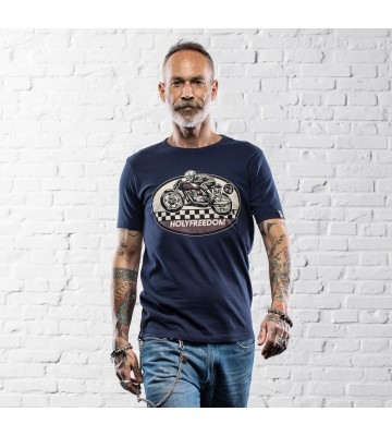 T-SHIRT GHOST RIDER BLUE