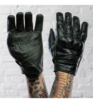 BULLIT GREEN & BLACK - GLOVES