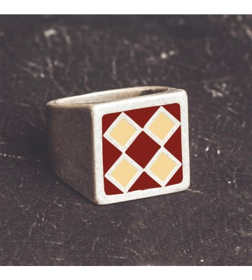 BULLIT Red & Beige RING
