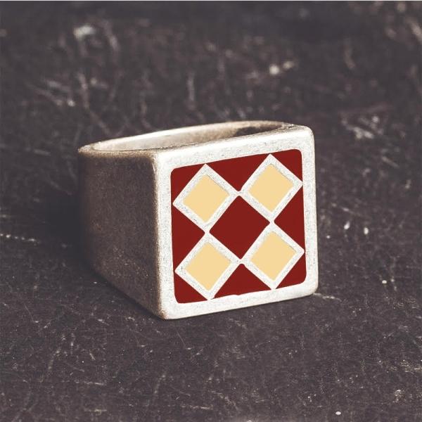RING - BULLIT Red & Beige