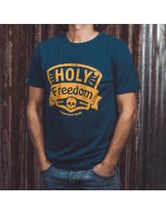 HOLYFREEDOM NAVY TEE - T-Shirt