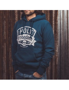 NAVY - hooded sweatshirt