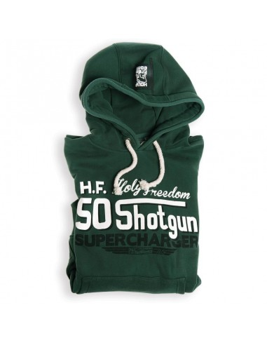 SHOTGUN GREEN - hooded sweatshirt